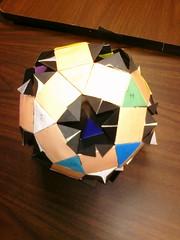 Rotunda-drilled-great-rhombicosidodecahedron -inner rhombicosidodecahedron (Origami Tatsujin 折り紙) Tags: art colors paperart origami geometry multicolored papiroflexia papercraft papercrafts polyhedra modularorigami geometricbeauty geometricart colorfulart
