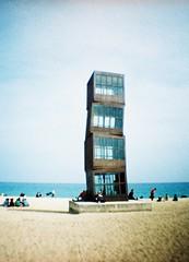 Barceloneta (crisfra) Tags: barcelona espaa film lomo xpro spain espanha toycamera barceloneta kodakelitechrome dianamini