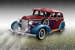 Classic (Billy Wilson Photography) Tags: old ontario canada texture beauty car rain sedan photoshop vintage 1930s ancient classiccar automobile moody antique atmosphere continental manipulation cadillac vehicle acr soo luxury classiccars lightbeams oldsmobile packard saultstemarie duesenberg northernontario algoma generalmotors cs4 adobecameraraw billywilson billywilsonphotography