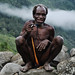 Koteka Man Enjoys a Smoke