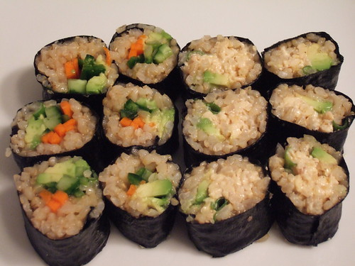 Veggie Roll and Spicy Tempeh Roll
