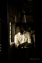 A peaceful Journey? (MRK Clicks) Tags: morning light india man men beautiful train office nikon nap peace streetphotography chennai tamilnadu mrk mrts d40 chengalpet listeningtosongs mrkclicks