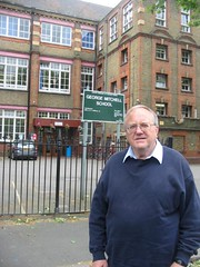 Cllr Bob Sullivan at George Mitchell School