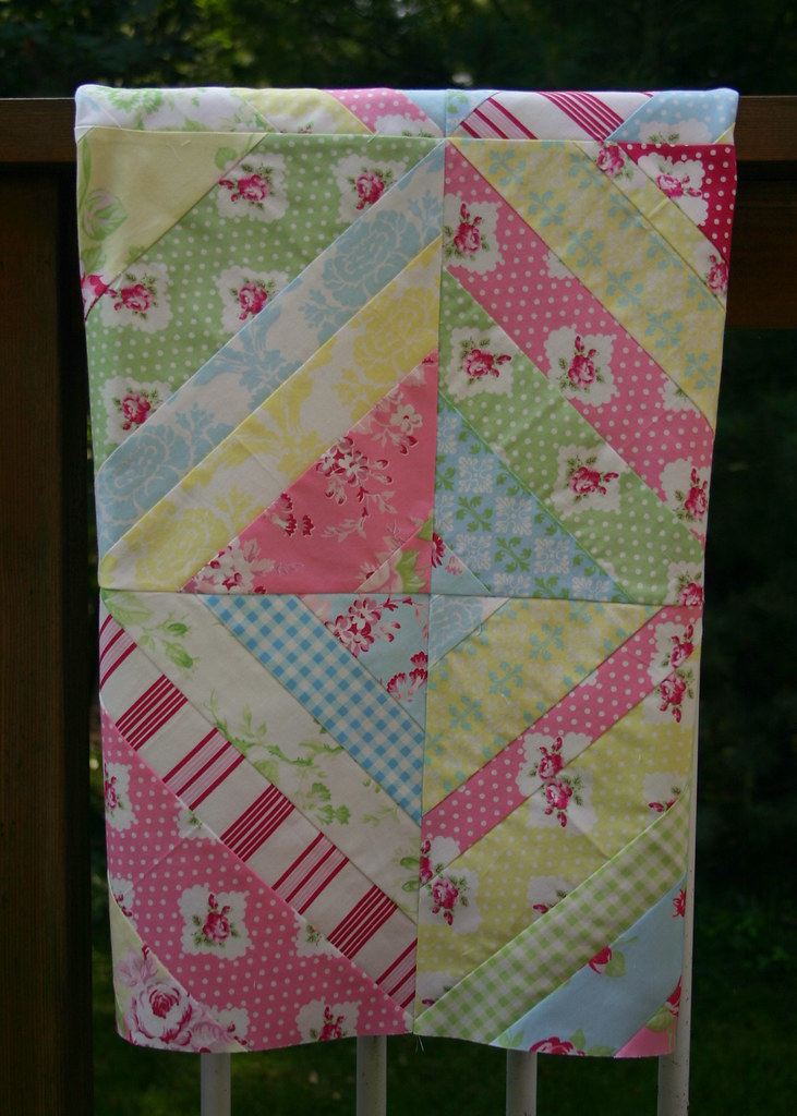 Darla String Quilt - hanging