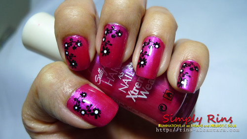 Nail Art Hot Magenta 03