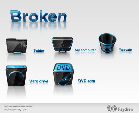 broken icons