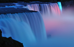 Niagara Falls by Night (Pragmatic1111) Tags: water night niagarafalls waterfall americanfalls flickraward artistoftheyearlevel4 artistoftheyearlevel5 artistoftheyearlevel6