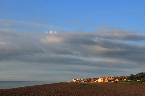 Aldeburgh at Dawn looking South from Maggi Hambling's Scallop