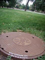 (Barrybu) Tags: street chicago art cap morgan sewer