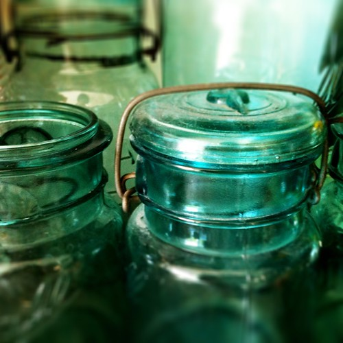 Mason jars waiting to be used...