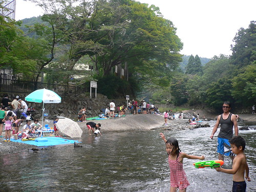 Summer fun in river