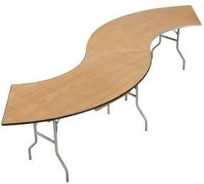 "Serpentine Tables in an ""S"""