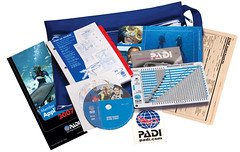 60314_OWCrwPk_AdvLogTblCD (FreeShark AB) Tags: new water bag studio table book dvd log open shot adventure use program ow instructions diver products decal padi product brochure protection logbook 60314