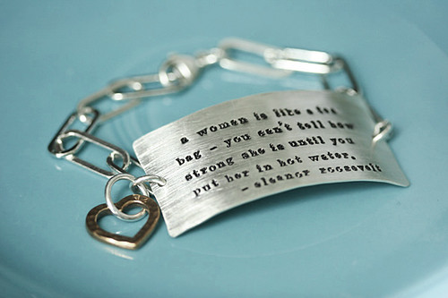 chunky message bracelet
