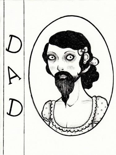 bearded lady birthday card for dad