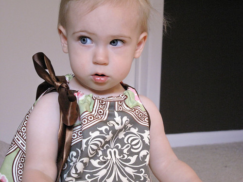 I made this dress for Eleanor.