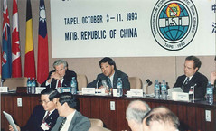 Keith speaking at an international money laundering conference