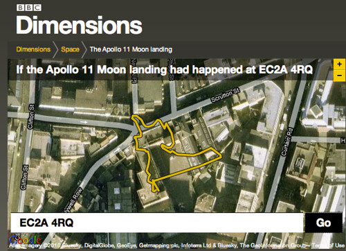 BBC - Dimensions - If the Apollo 11 Moonwalks happened around BERG's studio!