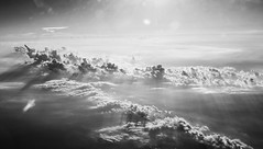(ingephotography) Tags: sky bw sun clouds plane airplane northsea explored