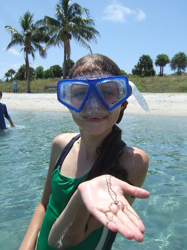 Lianne with a brittlestarfish