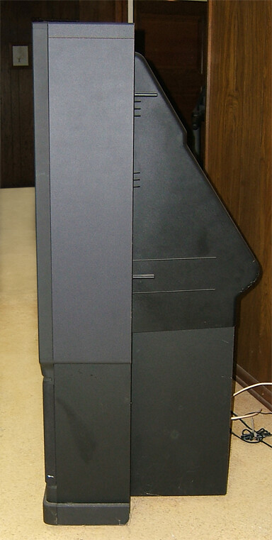 Hitachi Ultravision 60in. TV side view