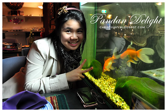 Pandan Delight: Two Gold Fishes