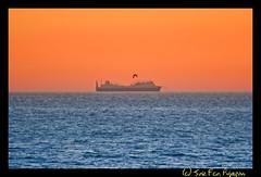 Serenidad (Jos Francisco_(Fuen446)) Tags: sunset sea sky espaa atardecer mar andaluca barco cielo serenity ocaso mlaga horizonte serenidad mijascosta
