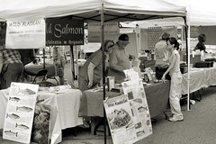 Salmon for Sale (Laveen Photography (aka cyclist451)) Tags: arizona az phoenix farmersmarket fish salmon blackandwhite blackwhite bw monotone black white laveenphotographynet dougsmithlaveenphotography wwwlaveenphotographynet