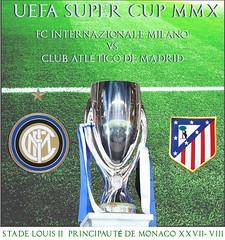 Inter Milan VS Atlético Madrid poster