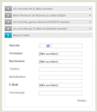 Abbildung: Progressive Kontaktformular-Lösung mit clic.form