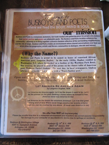 Busboys & Poets - Washington DC - August 2010
