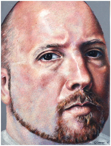 Colored pencil drawing entitled Self Portrait VII