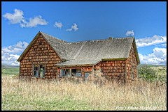 HDR #710 - Old House (Pete's Photo Magic) Tags: old usa house abandoned barn vintage psp wooden log pentax idaho hdr topaz photomatix k20d oncewashome
