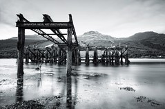 Old Pier (Samantha Nicol Art Photography) Tags: old blue seaweed art water clouds reflections scotland pier long exposure structure hills loch samantha arrochar nicol nd10