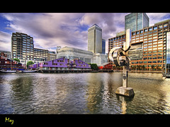 South Quay (Muzammil (Moz)) Tags: city london docklands canarywharf hdr moz canadasquare isleofdogs southquay marshwall muzammilhussain