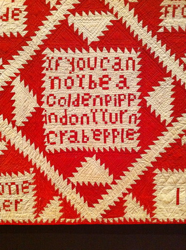 July 29: Detail of Red and White Quilt