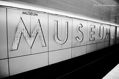 Night at the Museum (Che Esco Photography) Tags: life white toronto ontario canada abstract david black history museum night composition train wonderful dark subway happy photography grey kid sad state metro being memories platform dream tracks dramatic sombre tiles walkway rails eccentric che stains weaver generations melancholy joyful lucid melodramatic past wondering murky wandering magnificent matte mankind esco composed shadowy prospects guetta prosaic recollect tearful cudi