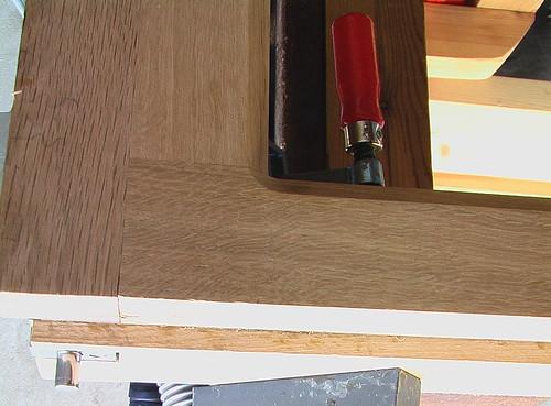 Flush bolt installed