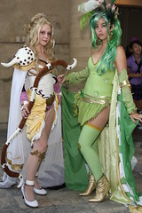 Archer/White Mage Rosa Joanna Farrell and Summoner Rydia (Ardias) Tags: anime cosplay archer whitemage rydia finalfantasyiv yoshitakaamano summoner otakon2010 rosajoannafarrell
