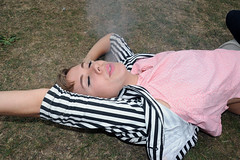 laying on grass smoking_7751 web