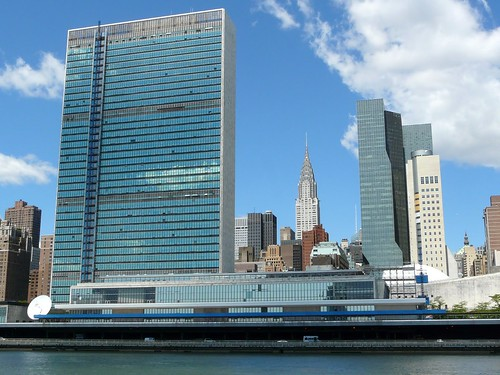 Le siège des Nations Unies au bord de l'East River