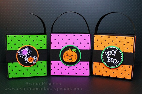 Halloween Polka-Dot Treat Bags (10)