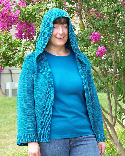 Alexandra Hoodie - modeled hood