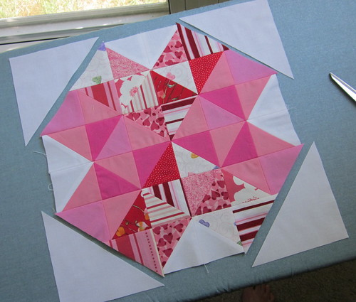 4 of Hearts Block - Step 5
