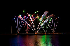 Fireworks I (Sandro Braz) Tags: longexposure portugal festival night nikon expo lisboa lisbon sigma noite braz sandro lenses parquedasnaes encerramento oceanos sigma18200 d5000 festivaldosoceanos sandrobraz