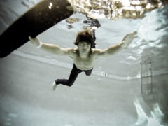 Brad March. 2010. (Shae James Photography) Tags: water pool brad james march underwater skateboarding under bubbles h2o deck skate bubble shae
