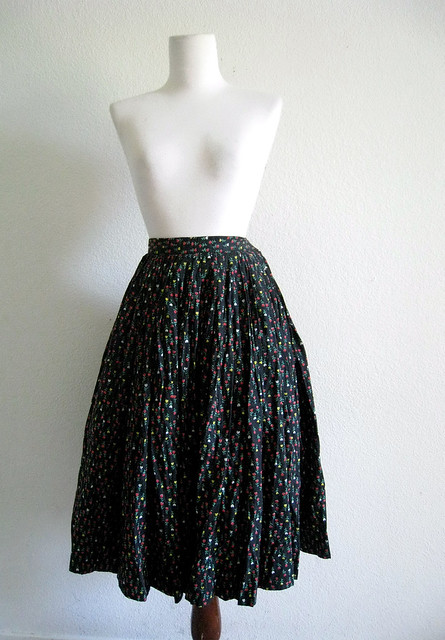 Heart Flowers Skirt, 1950's