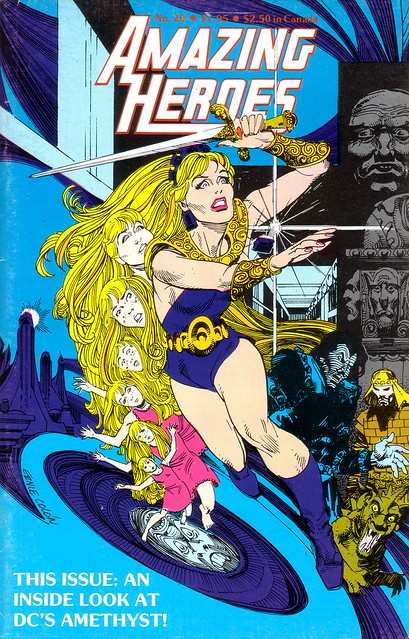 Amethyst cover for Amazing Heroes 20 by Ernie Colon 1983