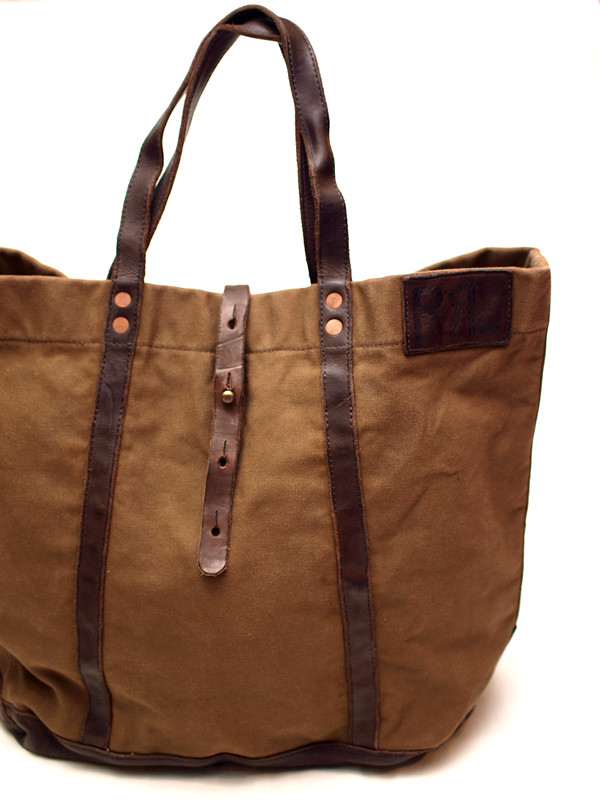 RRL / Leather/Canvas Tote Bag