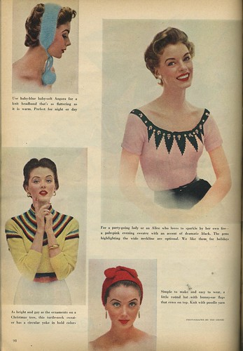 1953 sweaters and knit hats